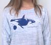 Orca Whale Long Sleeve Dolman Top