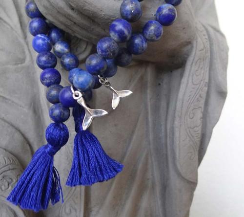 Lapis Orca Prayer Bracelet