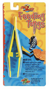 Zoo Med Plastic Feeding Tongs - Yellow