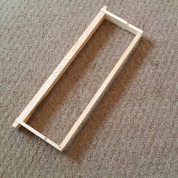 ASSEMBLED WOOD FRAME FOR HONEY SUPERS (WITHOUT FOUNDATION)
