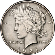1921 Peace Silver Dollar (Extremely Fine)