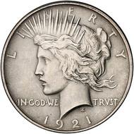 1921 Peace Silver Dollar