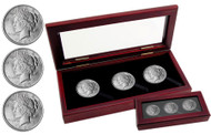 3-coin Peace Silver dollar set (Almost Uncirculated)