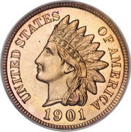 Indian Cent (Extremely Fine) date our choice