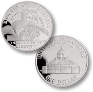 2000 Library of Congress Silver Dollar
