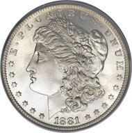 1881 Morgan Silver Dollar Brilliant Uncirculated Condition
