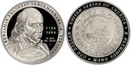 2006 Ben Franklin Founding Father Silver Dollar PR70
