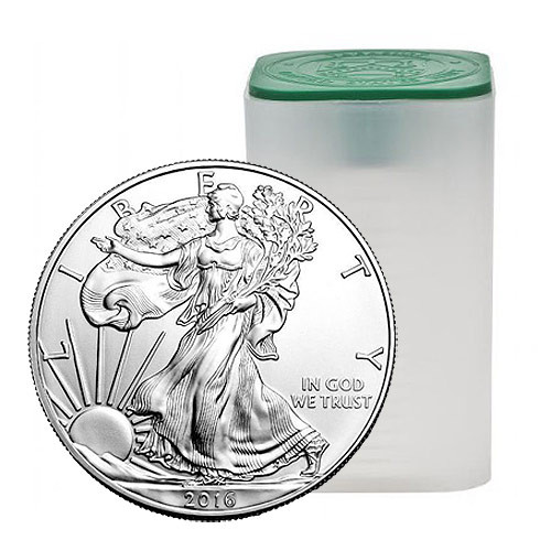 Roll of 20 2016 Silver Eagles- FREE SHIPPING