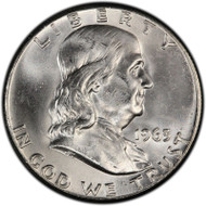 Franklin Half Dollars Brilliant Uncirculated