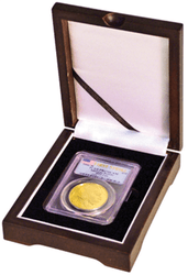 One coin Wood Display Box NGC or PCGS