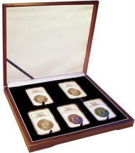 Five Coin Wood Display Box NGC or PCGS