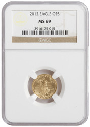 Random Date $5 Gold Eagle MS69- Special