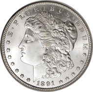 1891 Morgan Silver Dollar (XF to AU condition)