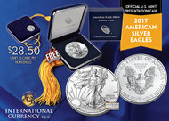 2017 Silver Eagle in Mint Box-Graduate