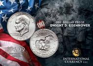 Proof Eisenhower Silver Dollars
