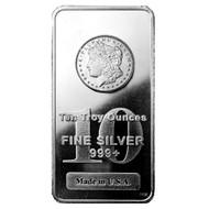 10oz. 99.99% Pure Silver Bar (Design on bar our choice)