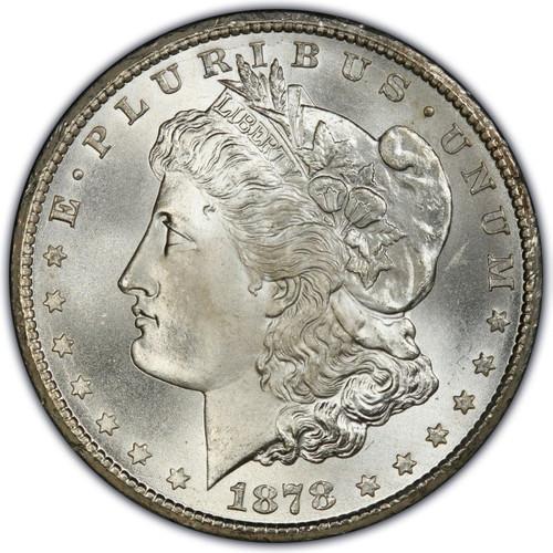 1878 Morgan Silver Dollar First Year of Issue