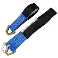 View of a 2' and 3' blue Axle Strap