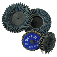 """Image of two each 2"""" and 3"""" Mini Flap Discs"""