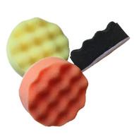 """3"""" Waffle Cut, Velcro Backing, Black, Orange, Yellow"""