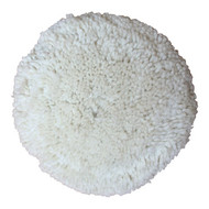 """Front View of 8"""" Wool Buffing Pad"""