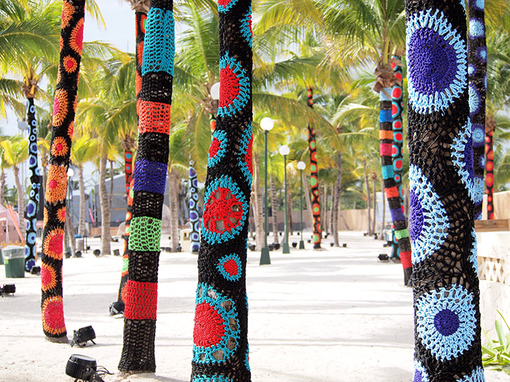 Yarn Bombed Palm Trees by Carol Hummel 2017