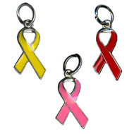 Enamel Awareness Ribbon Charms