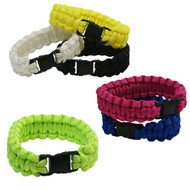 6-piece Paracord Bracelets: Small Solid Colors