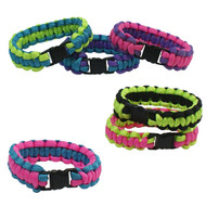 6-piece Paracord Bracelets: Small Two-Tone