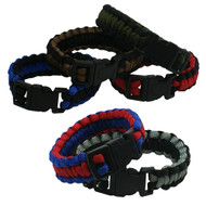 6-piece Paracord Bracelets: Large Two-Tone