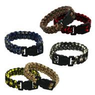 6-piece Paracord Bracelets: Large Camouflage