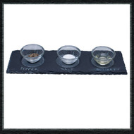 Long Rectangular Slate Condiment Tray