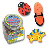 Eraser Canister Variety Pack - 25 pcs.