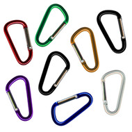 8 Small Carabiners  Assorted Colors