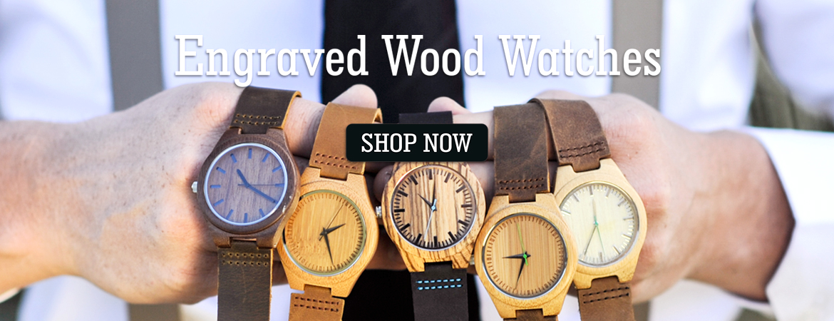 watches leather wood custom blue and strap alloy mental watch case