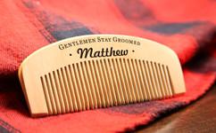 Groupon AU Engraved Comb - Stay Groomed Gentlemen