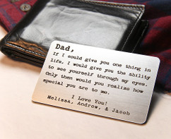 Groupon AU Personalized Dad Wallet Card  Insert