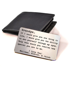 Groupon AU Personalized Engraved Grandpa Wallet Card Insert