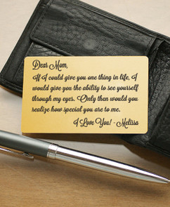 Groupon AU Personalized Wallet Card- If We Could Give