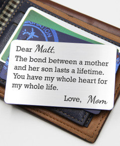 Groupon AU Personalized Wallet Card- Mother Son Bond