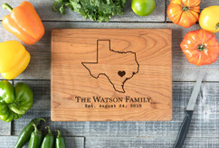 Cherry Personalized Cutting Board ~ State