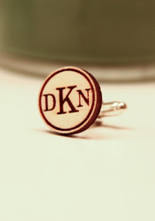 LUX Engraved Cuff Links - Standard Circle Monogram