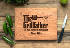 Cherry Personalized Cutting Board ~ Grillfather