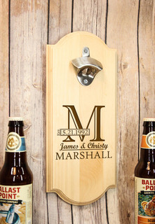 Personalized Wall Mount Bottle Opener - Imprint Shadow