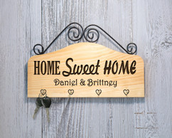 Personalized Family Key Holder - Home Sweet Home