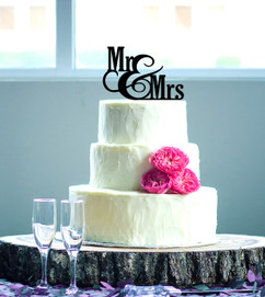 Groupon AU - Personalized Cake Topper - Mr & Mrs