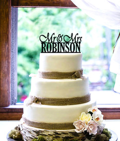 Groupon AU - Personalized Cake Topper - Mr & Mrs Name