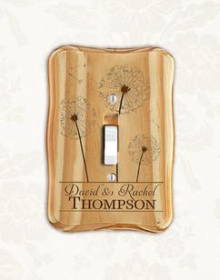 Groupon AU/NZ - Personalized wood light switch -  Dandelions
