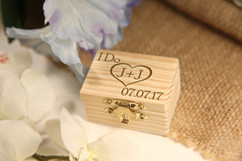 LUX - Personalized Trinket Box - Heart Initials