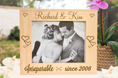 Groupon AU/NZ  - Personalized Picture Frame - Inseparable Since